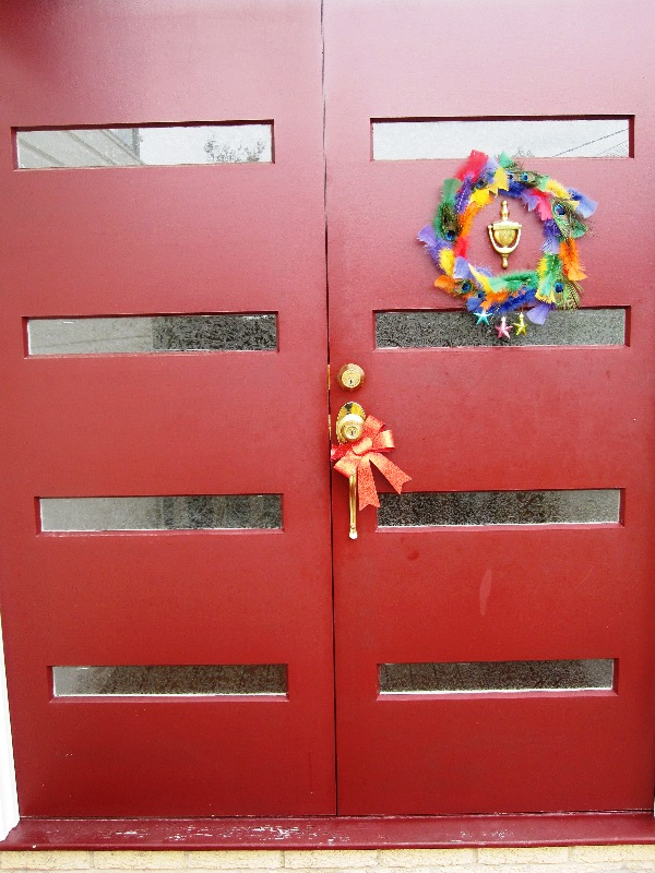 xmas wreath_dble door